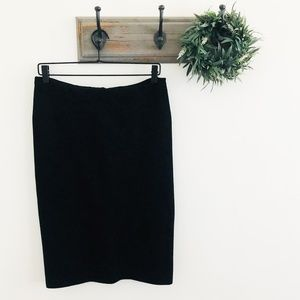 Ralph Lauren Purple Tag Black Knit Pencil Skirt M